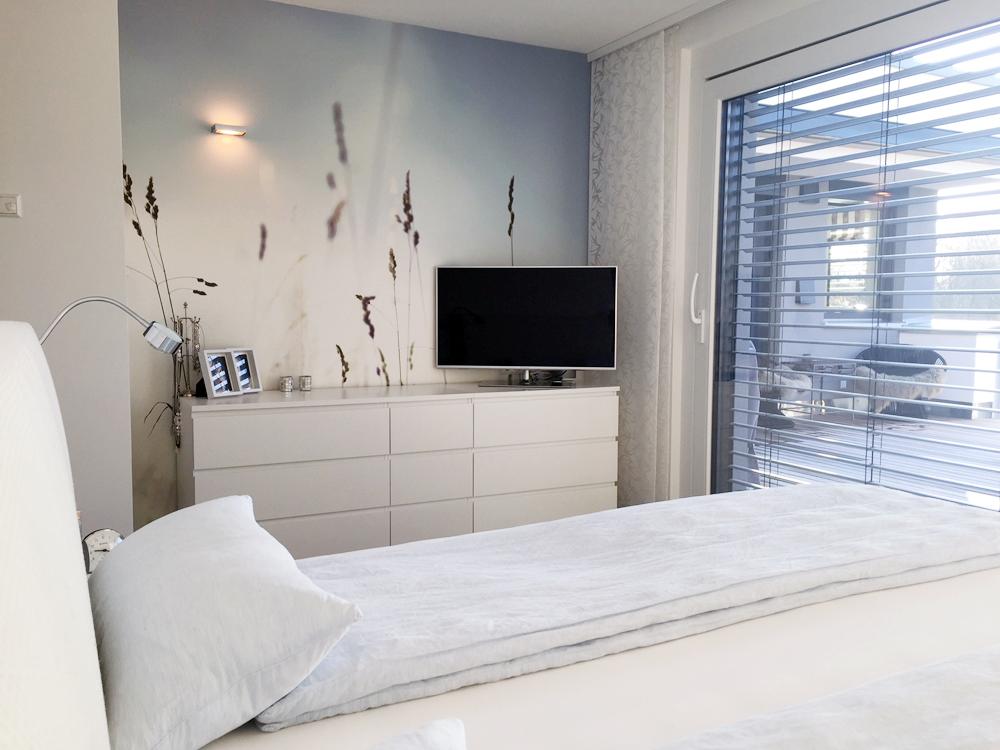 Raumidee - Naturtapete im Schlafzimmer