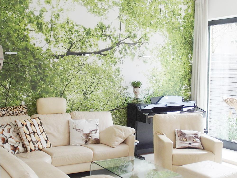 Raumidee - Naturtapete im Wohnzimmer