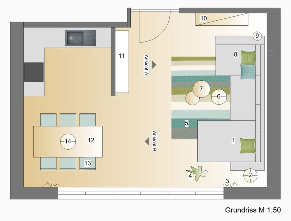 Einrichtungsplanung Grundriss