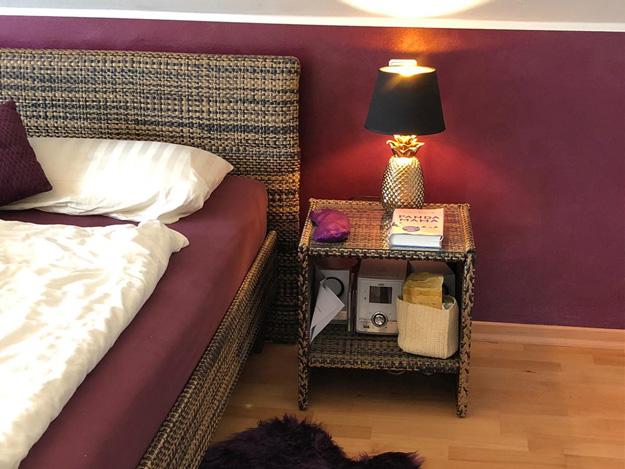 Farbe im Schlafzimmer - Pur Pur wirkt elegant